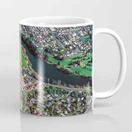 Hamilton City, New Zealand - Aerial view  Coffee Mug