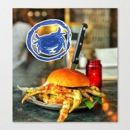 Krab Burger Canvas Print