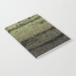 Wood and stone layers abstract pattern Notebook