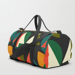 Retro Christmas trees Duffle Bag