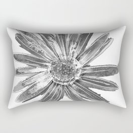 Daisy One White Rectangular Pillow