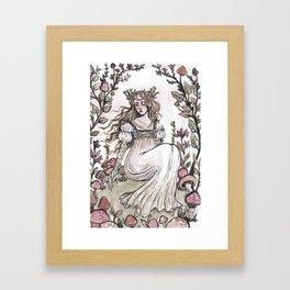 Fairy Ring Maiden Framed Art Print