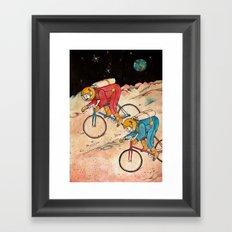 Lunar Keirin Framed Art Print