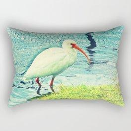 White Ibis Rectangular Pillow