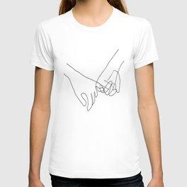 Pinky Swear Hands Line Art T-shirt