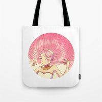 charmaine olivia Tote Bags featuring olivia by madammonkey