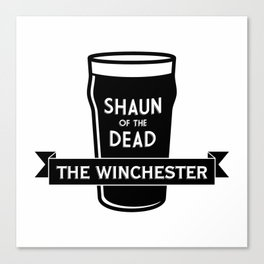 Shaun of the Dead - The Winchester Canvas Print