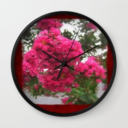 Crape Myrtle Blank P5F0 Wall Clock
