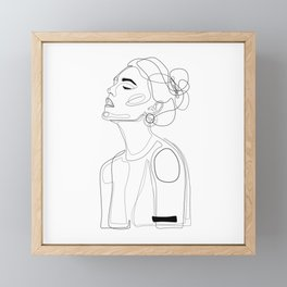 B Yellow Lip Framed Mini Art Print
