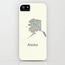 Alaska map iPhone Case