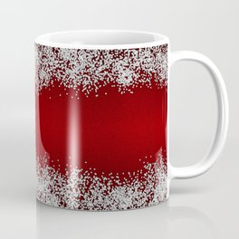 Shiny Red Texture With Silver Sparkles Coffee Mug