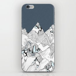 At night in the mountains iPhone Skin