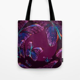 Purple butterflies full of beauty #decor #society6 Tote Bag
