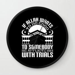 Islam - If Allah Wants To Do Good Wall Clock