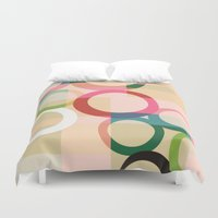 circles Duvet Covers featuring circles by clemm