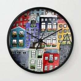 a walk through amsterdam Wall Clock