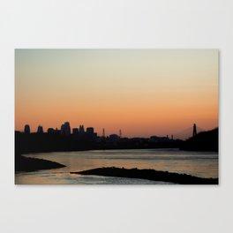 Kansas City Sunset Canvas Print