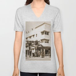 Collins Avenue, Miami Beach Unisex V-Neck