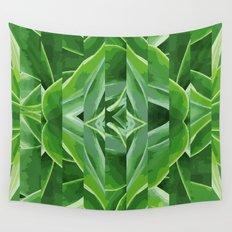 green cut Wall Tapestry