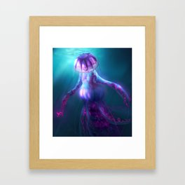 Jellyfish Creature Framed Art Print