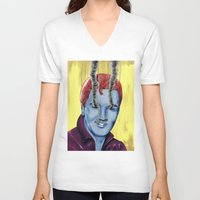 elvis V-neck T-shirts featuring Elvis by FAMOUS WHEN DEAD