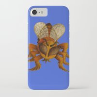 bee iPhone & iPod Cases featuring bee by giol's