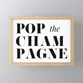 Pop the Champagne Framed Mini Art Print