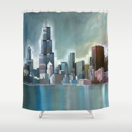 Chicago At Noon Shower Curtain