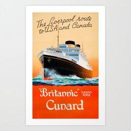 HMHS Britannic Art Print