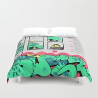 rap Duvet Covers featuring How to Make a Rap Spray. by Ratmilkzine