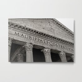The Pantheon black and white Metal Print
