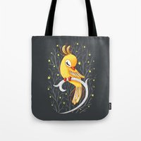 freeminds Tote Bags featuring Magic Canary by Freeminds
