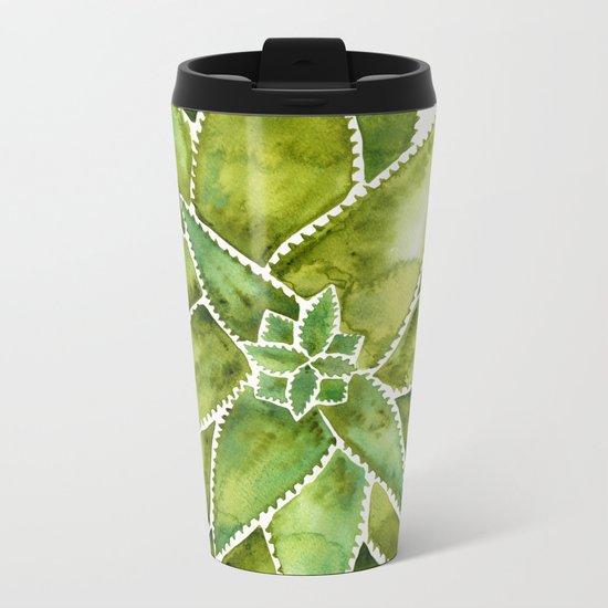 Aloe Vera – Green Palette Metal Travel Mug