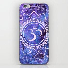 Om Mandala Purple Lavender Blue Galaxy iPhone Skin