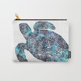 Sea Turtle Blue Watercolor Art Carry-All Pouch