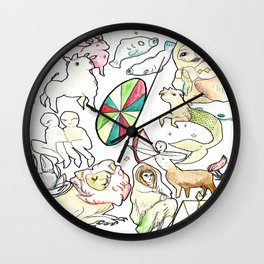 Zodiac Beings Wall Clock