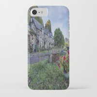 cafe iPhone & iPod Cases featuring Lakeside Cafe by Ian Mitchell