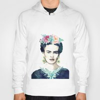 frida kahlo Hoodies featuring Frida Kahlo  by South Pacific Prints