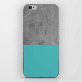 Concrete x Blue iPhone Skin