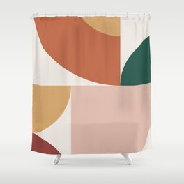 Abstract Geometric 13 Shower Curtain