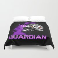 starlord Duvet Covers featuring Guardian by Spicy Monocle