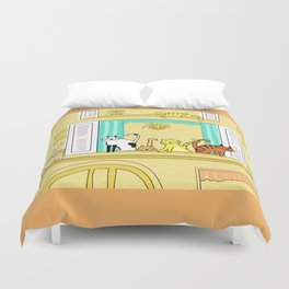 Kitty-Kat Chateau Duvet Cover