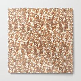 Golden confetti glitter sparkl Metal Print