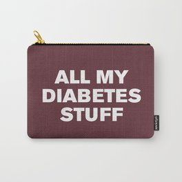 All My Diabetes Stuff (Tawny Port) Carry-All Pouch