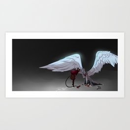 Swan and Mouse Art Print