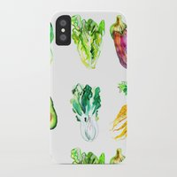 vegetables iPhone & iPod Cases featuring Vegetables by Naomi Bardoff