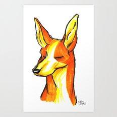 Brush Breeds-Ibizan Hound Art Print