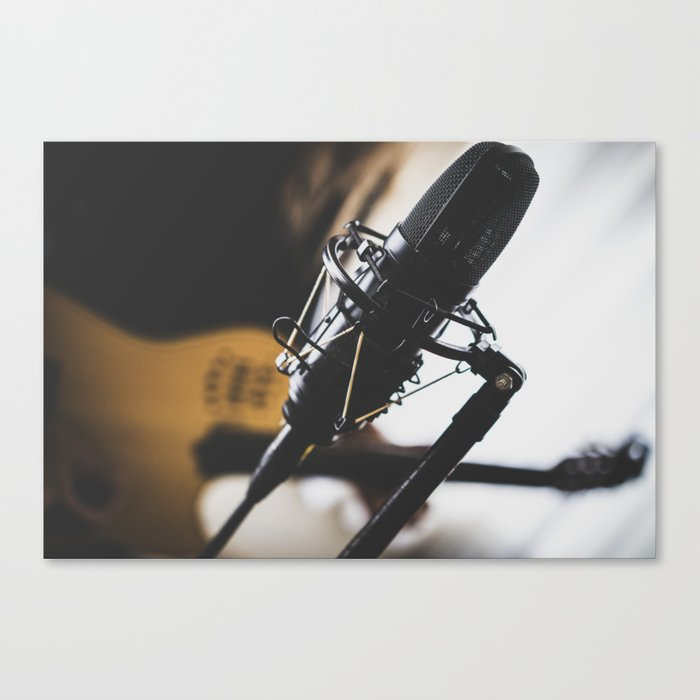 the voice of the band Canvas Print