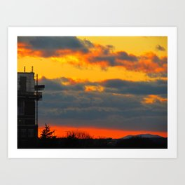 March Sunset in Portland, Maine (2) Art Print