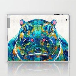 Hippopotamus Art - Happy Hippo - By Sharon Cummings Laptop & iPad Skin